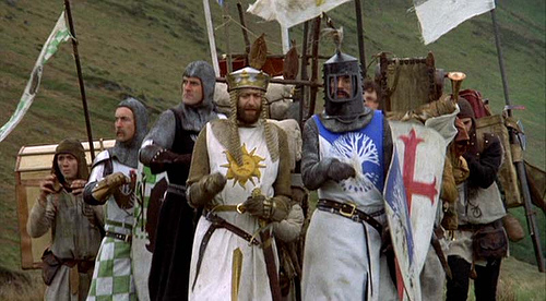 Ah! Camelot - a scene from Monty Python's Seach for the Holy Grail