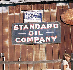 sign for old Standard Oil Company